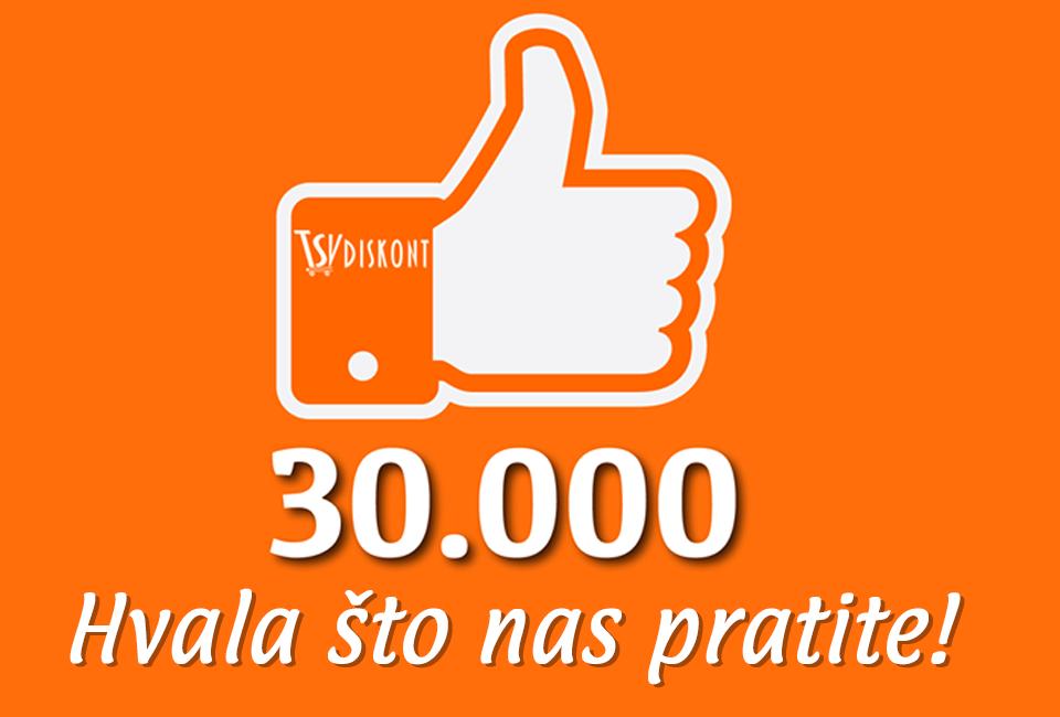 30.000 pratilaca na facebooku